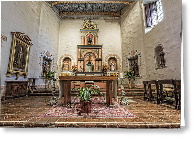 San Diego De Alcala Altar Greeting Card by Stephen Stookey
