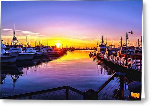 San Diego Harbor Sunrise Greeting Card