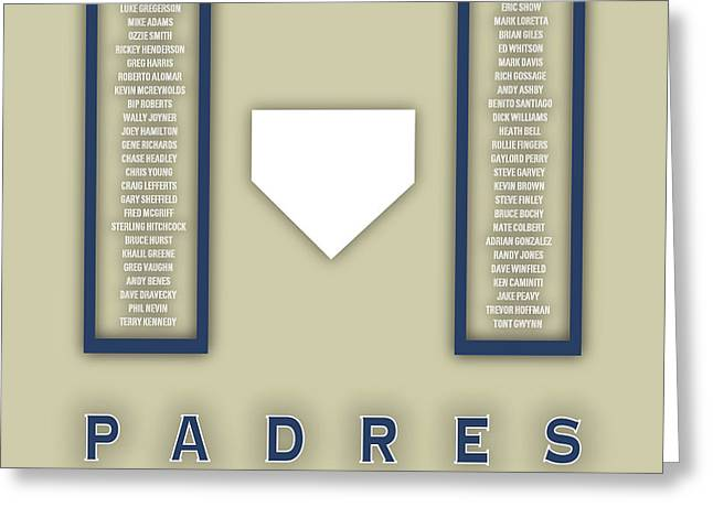 San Diego Padres Art - Mlb Baseball Wall Print Greeting Card