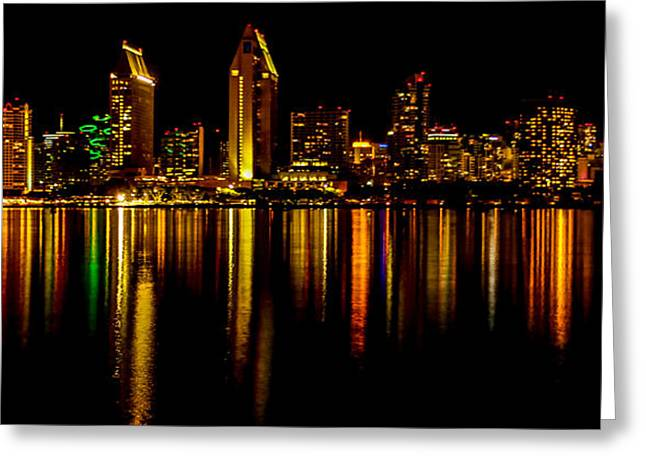 San Diego Panoramic Greeting Card by Bill Gallagher