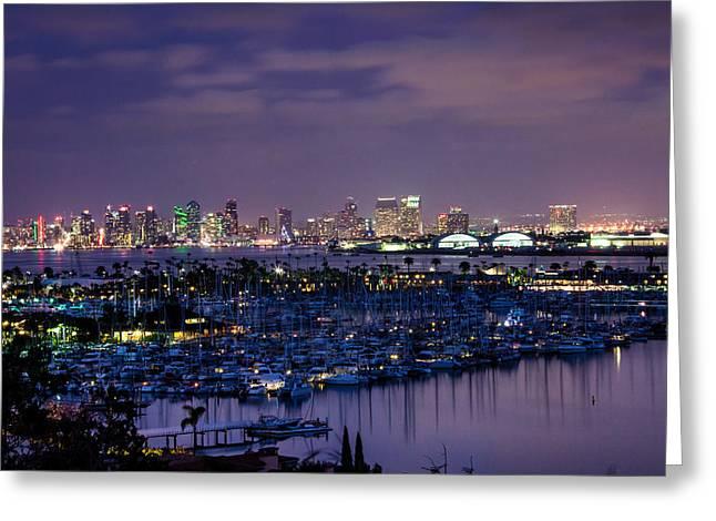 San Diego Skyline 4 Greeting Card