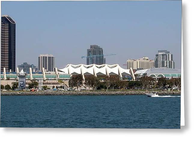 San Diego Skyline 4 Greeting Card by Joseph R Luciano