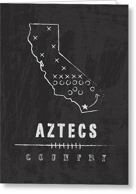 San Diego State Aztecs Country Greeting Card