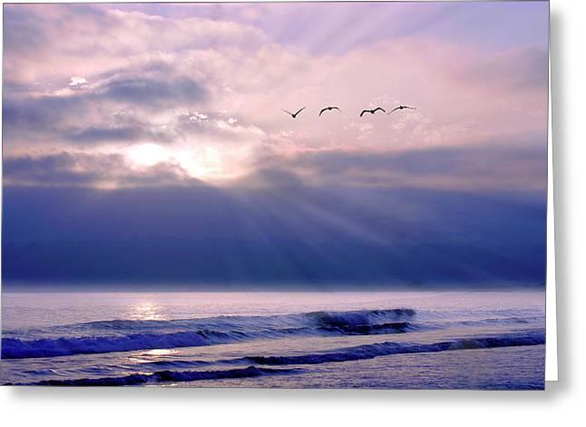 San Diego Sunset 2 Greeting Card by Alan Hausenflock