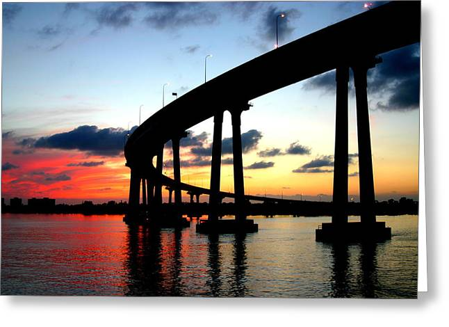 San Diego Sunset Greeting Card