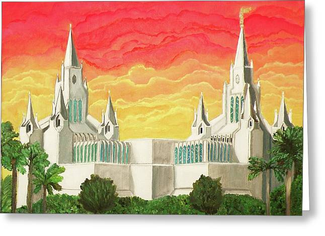 San Diego Temple Greeting Card