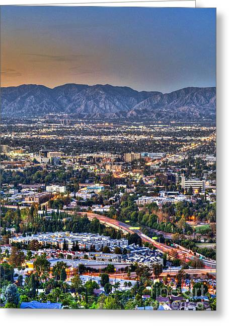 San Fernando Valley Vertical Greeting Card by David Zanzinger