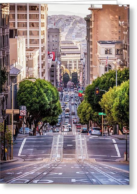 San Fran Cable Car Greeting Card