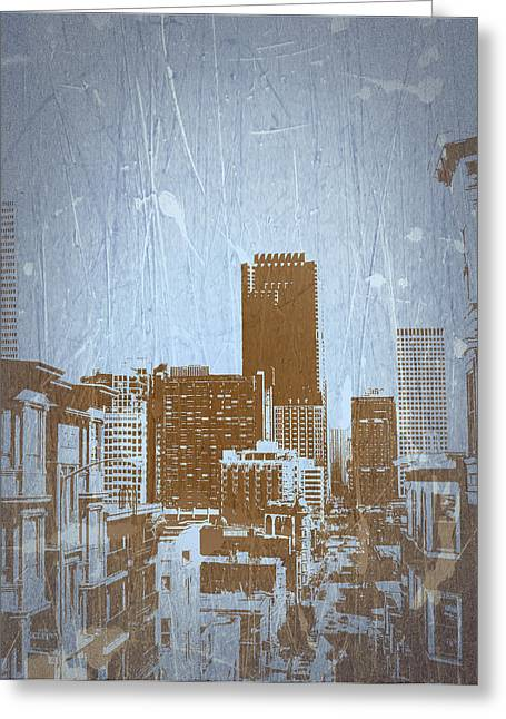 San Francisco 2 Greeting Card by Naxart Studio