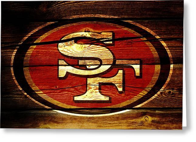 San Francisco 49ers 3b Greeting Card by Brian Reaves