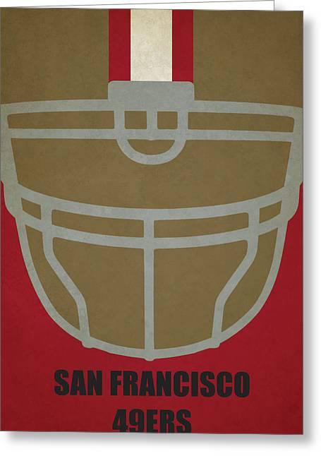 San Francisco 49ers Helmet Art Greeting Card
