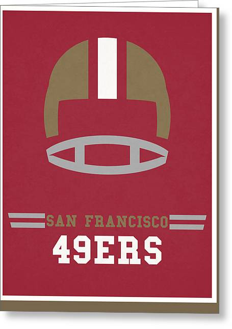San Francisco 49ers Vintage Art Greeting Card by Joe Hamilton