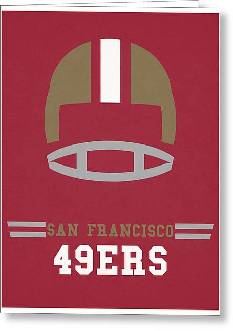 San Francisco 49ers Vintage Art Greeting Card