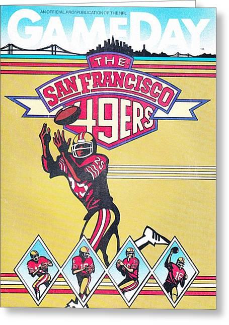 San Francisco 49ers Vintage Program Greeting Card by Joe Hamilton