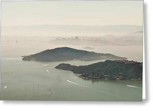 San Francisco Angel Island And Bay Greeting Card by Eddy Joaquim