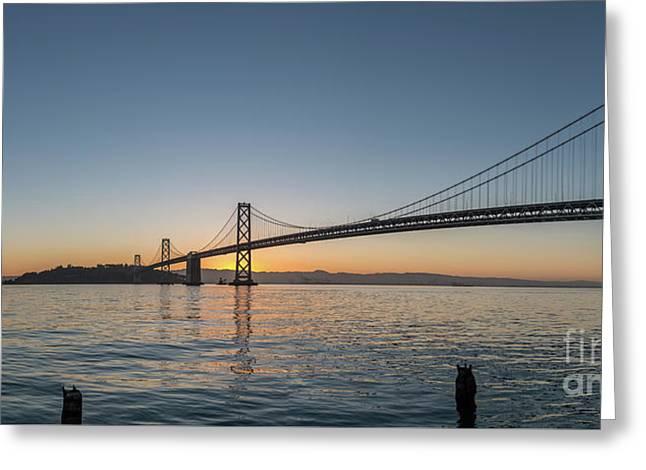 San Francisco Bay Brdige Just Before Sunrise Greeting Card