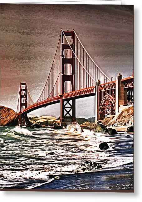 San Francisco Bridge View Greeting Card by Dennis Cox WorldViews