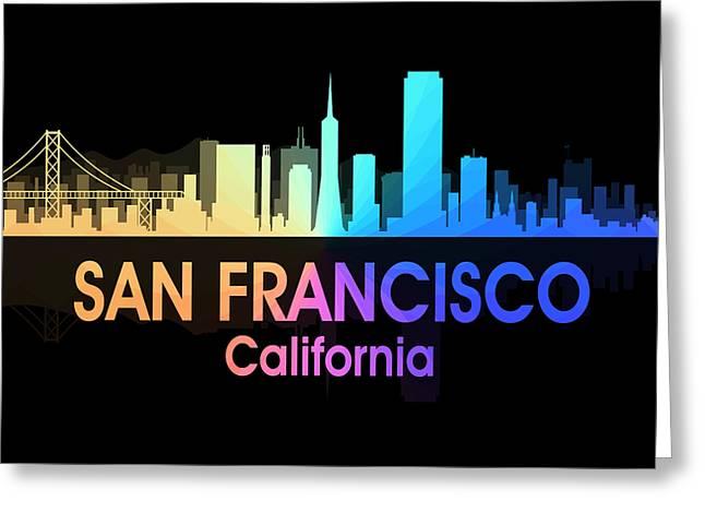 San Francisco Ca 5 Squared Greeting Card