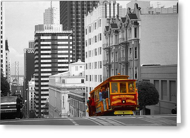 San Francisco - Red Cable Car Greeting Card