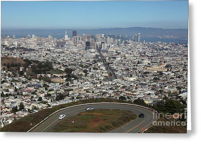 San Francisco California From Twin Peaks 5d28034 Greeting Card