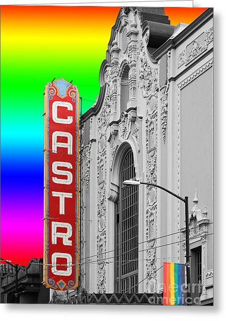 San Francisco Castro Theater . 7d7579 Greeting Card by Wingsdomain Art and Photography