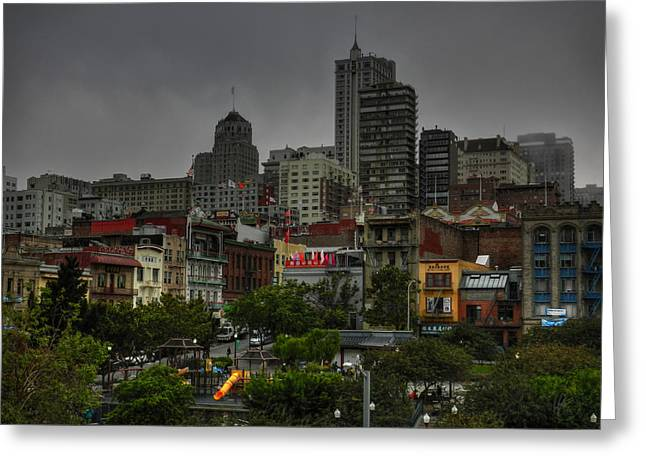 San Francisco - Chinatown 015 Greeting Card by Lance Vaughn