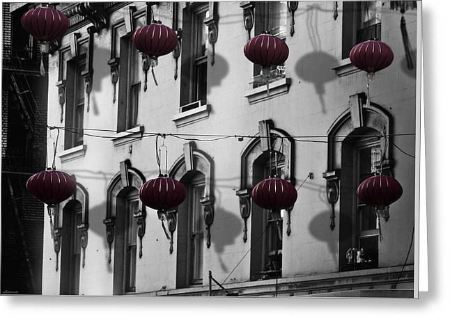 San Francisco Chinatown Greeting Card by Larry Butterworth