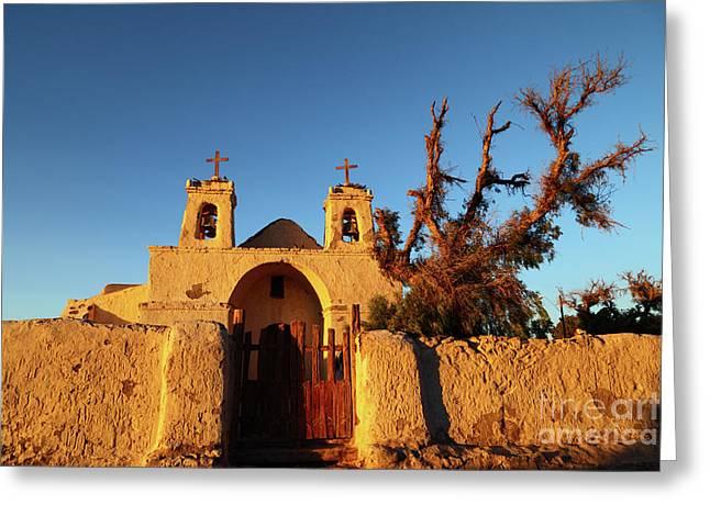San Francisco Church Chiu Chiu Chile Greeting Card