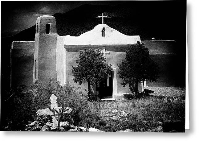 San Francisco Church In New Mexico Greeting Card by David Patterson