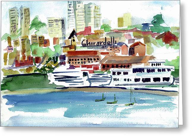 San Francisco Cityfront From Aquatic Park Greeting Card by Tom Simmons
