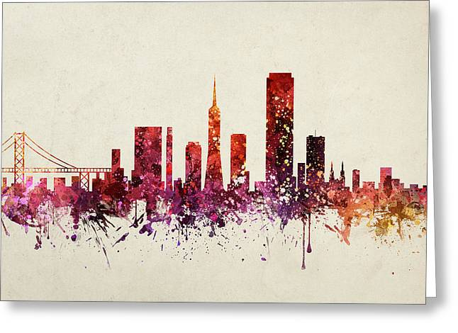 San Francisco Cityscape 09 Greeting Card