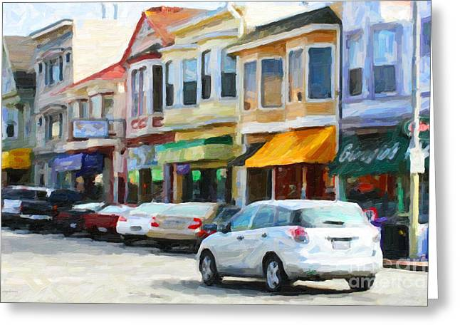 San Francisco Clement Street 2 Greeting Card by Wingsdomain Art and Photography