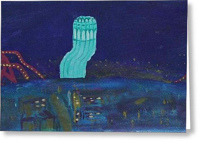 San Francisco Coit Tower Abstract Greeting Card