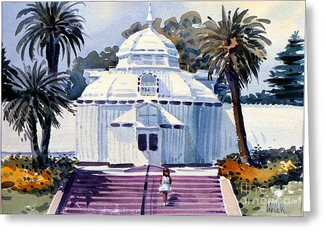 San Francisco Conservatory Greeting Card by Donald Maier