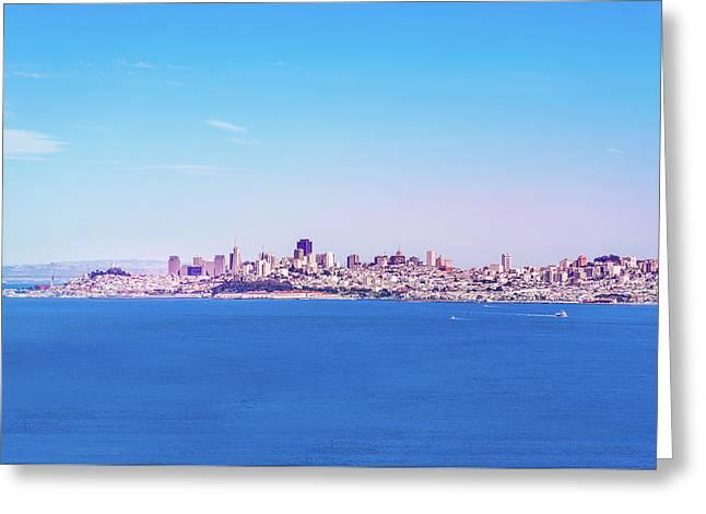 San Francisco Downtown Skyline Greeting Card by Art Spectrum