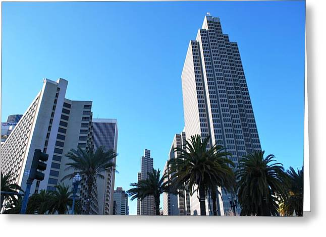San Francisco Embarcadero Center Greeting Card by Matt Harang
