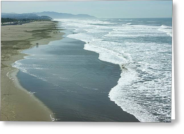 San Francisco Fog - Ocean Beach Layers Textures And Forms Greeting Card