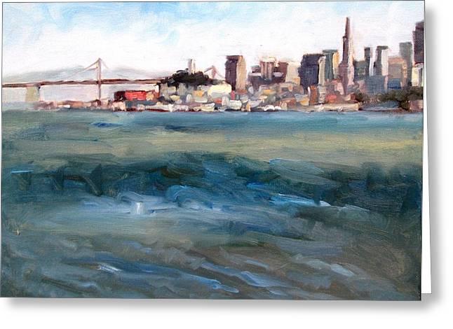 San Francisco From Marin Greeting Card by Deborah Cushman