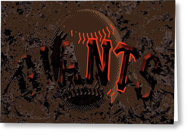 San Francisco Giants 6d Greeting Card by Brian Reaves