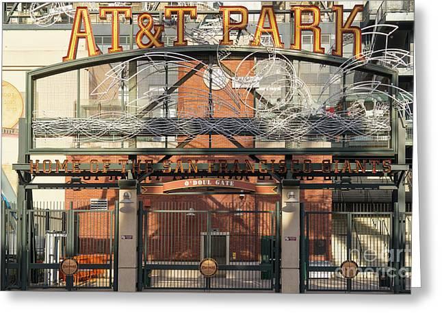 San Francisco Giants Att Park Juan Marachal O'doul Gate Entrance Dsc5778 Greeting Card