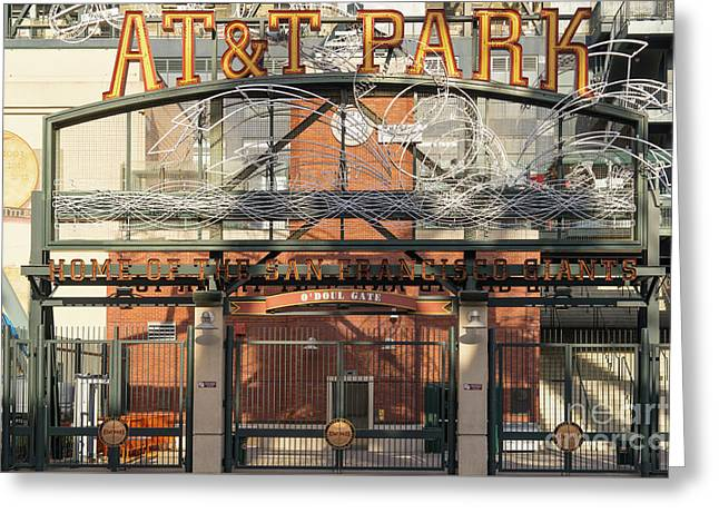 San Francisco Giants Att Park Juan Marachal O'doul Gate Entrance Dsc5778 Greeting Card