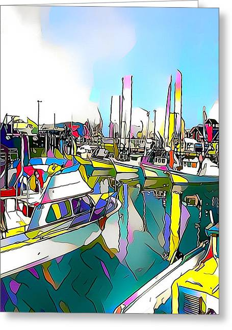 San Francisco Harbor Greeting Card by Roger Smith