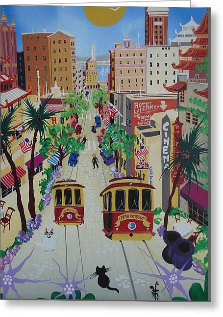 San Francisco Greeting Card by Herbert Hofer