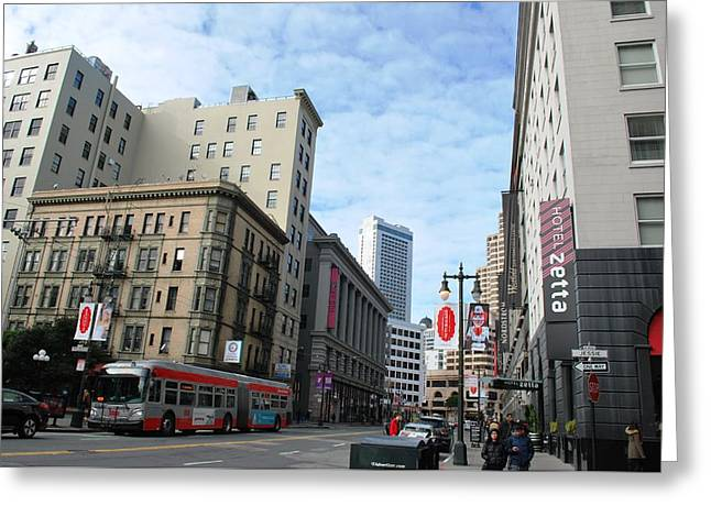 San Francisco - Jessie Street View Greeting Card by Matt Harang
