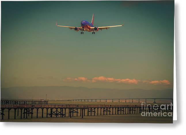 San Francisco Landing Greeting Card