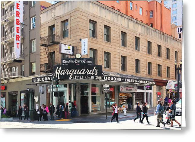San Francisco Marquards Little Cigar Store On Powell Street 5d17950 Painterly Greeting Card