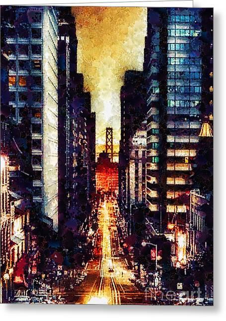 San Francisco Greeting Card by Mo T