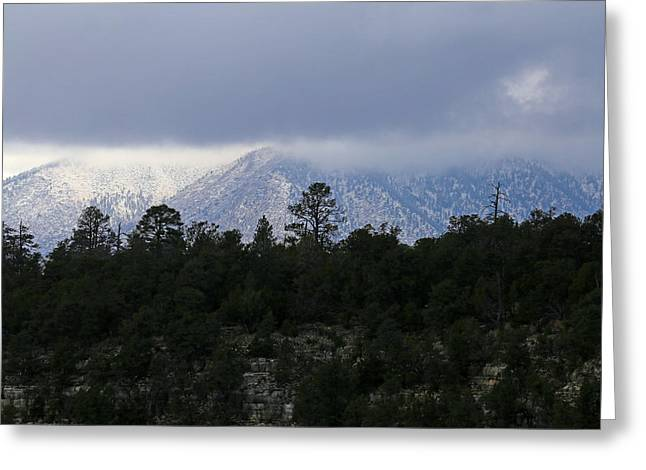 San Francisco Mountains From Walnut Canyon Greeting Card