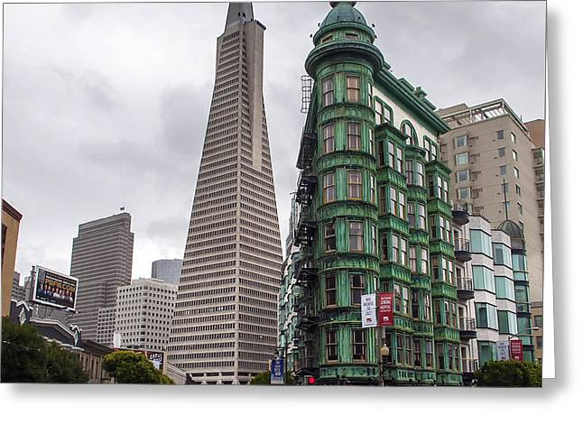 San Francisco Old And New Greeting Card by Daniel Hagerman