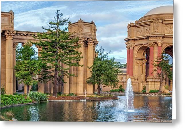 San Francisco Palace Of Fine Arts Panorama Greeting Card by Gregory Ballos